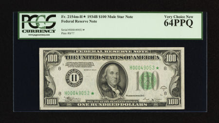 1934b One Hundred Dollar Federal Reserve Notes Usa Paper Money