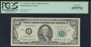 1977 One Hundred Dollar Federal Reserve Notes - USA Paper Money
